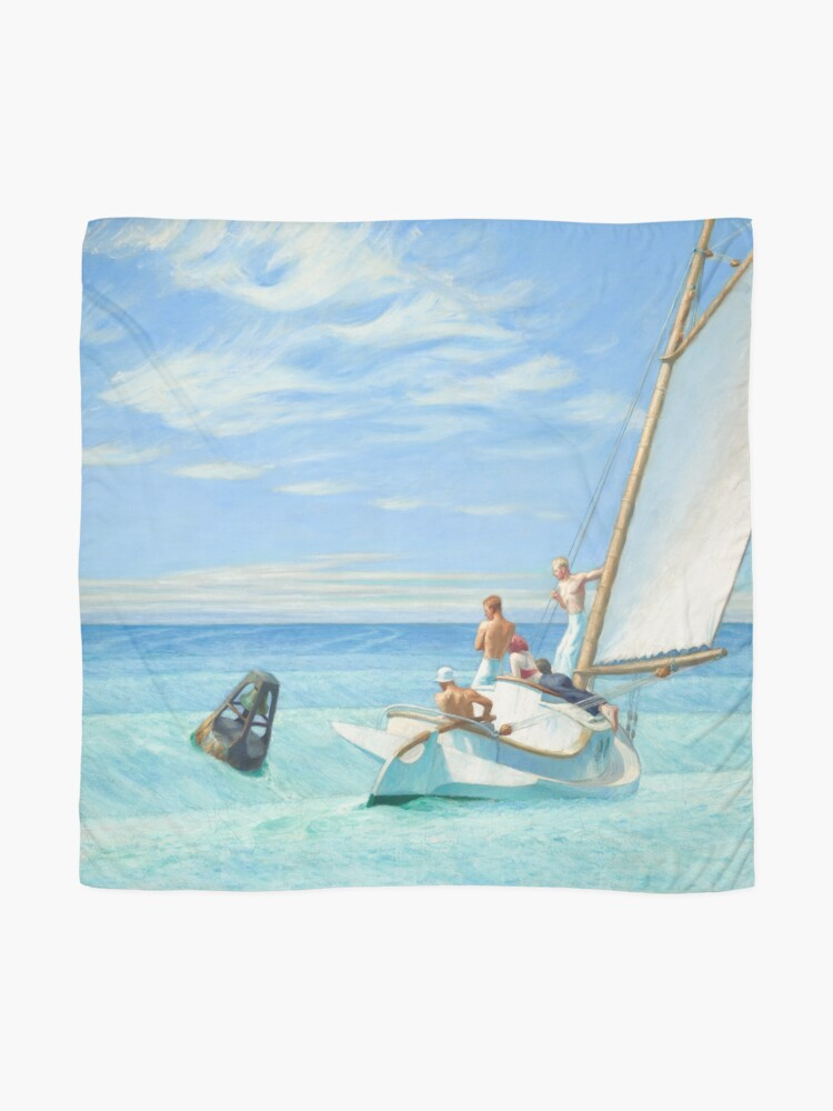 Alternate view of Ground Swell Oil Painting by Edward Hopper Scarf