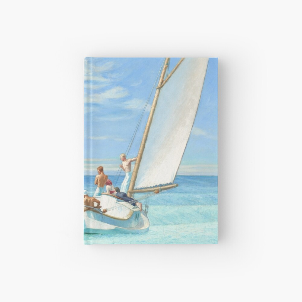 Ground Swell Oil Painting by Edward Hopper Hardcover Journal