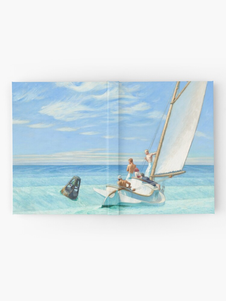 Alternate view of Ground Swell Oil Painting by Edward Hopper Hardcover Journal