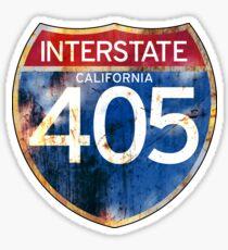 INTERSTATE 405 CALIFORNIA IRVINE COSTA MESA SEAL LONG BEACH CARSON LOS ANGELES SHERMAN OAKS SAN FERNANDO  Sticker