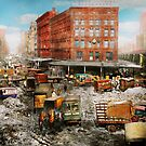 City - New York NY - Stuck in a rut 1920 by Mike  Savad