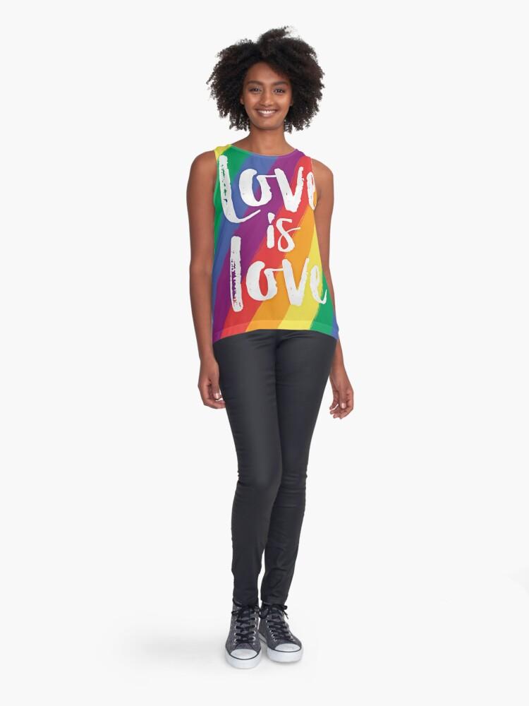 Vista alternativa de Blusa sin mangas El amor es amor - orgullo de la bandera del arco iris