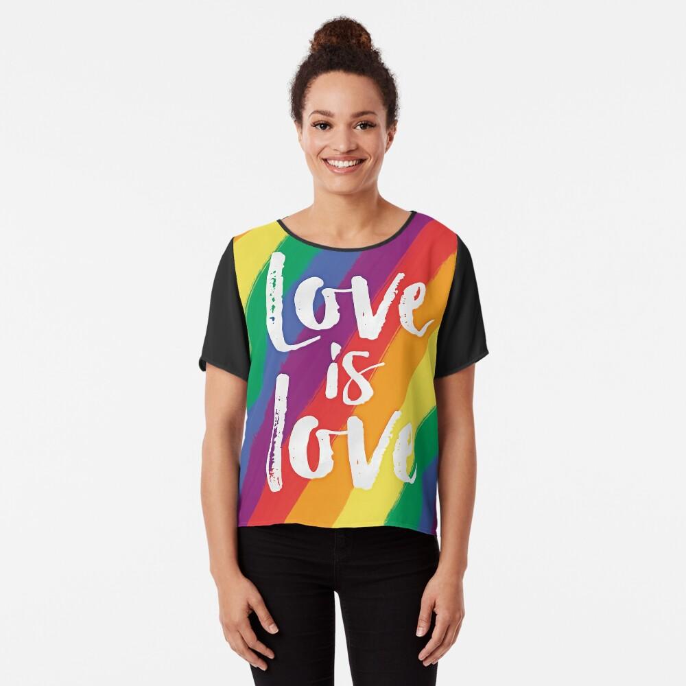 El amor es amor - orgullo de la bandera del arco iris Blusa