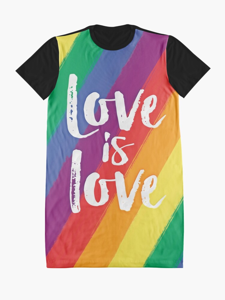 Alternate view of Love is love - Rainbow flag pride Graphic T-Shirt Dress