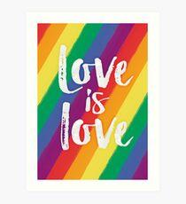 Liebe ist Liebe - Regenbogenflagerstolz Kunstdruck