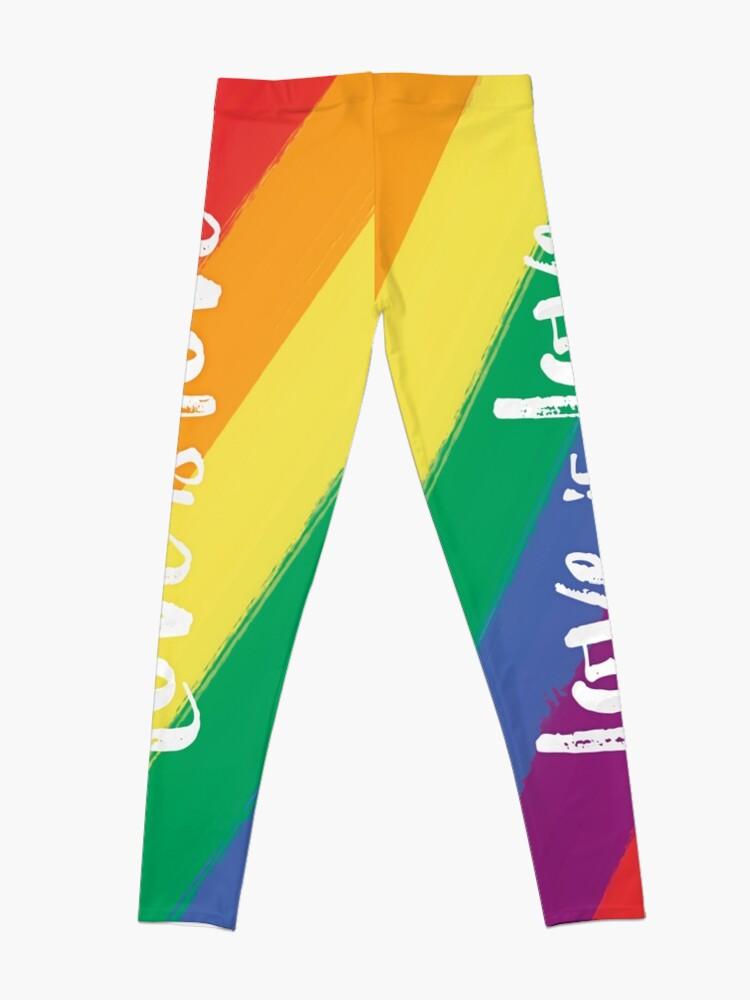 Vista alternativa de Leggings El amor es amor - orgullo de la bandera del arco iris