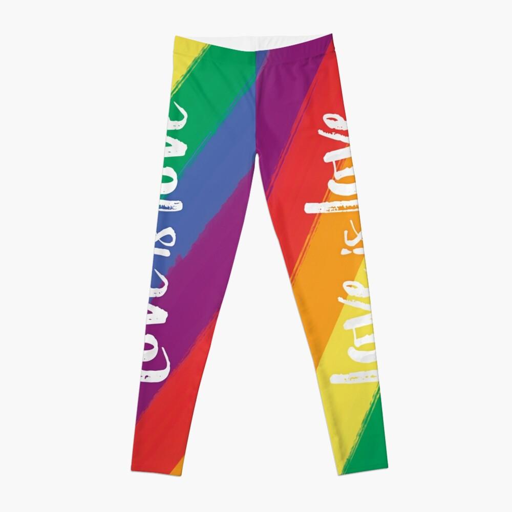 El amor es amor - orgullo de la bandera del arco iris Leggings