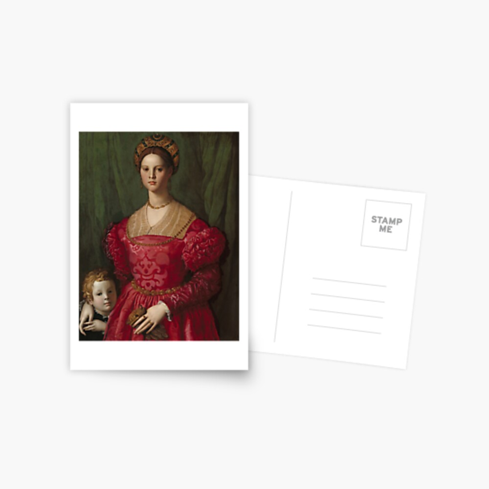 A Young Woman and Her Little Boy Oil Painting by Agnolo Bronzino Postcard