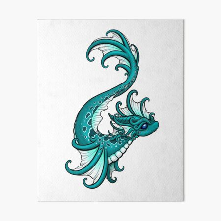 Water Dragon Art Board Print