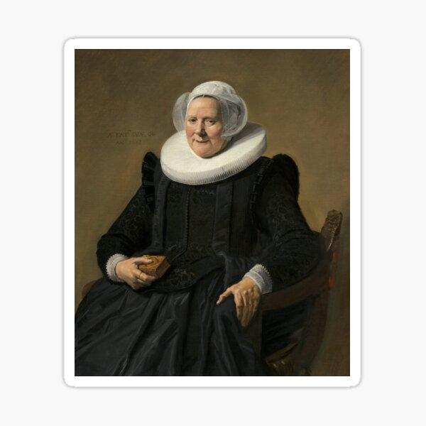 Portrait of an Elderly Oil Painting Lady by Frans Hals Sticker