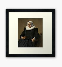 Portrait of an Elderly Oil Painting Lady by Frans Hals Framed Print