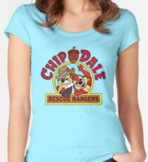 Chip n Dale Rescue Rangers, classic Cartoon Women's Fitted Scoop T-Shirt