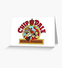 Chip n Dale Rescue Rangers, classic Cartoon Greeting Card