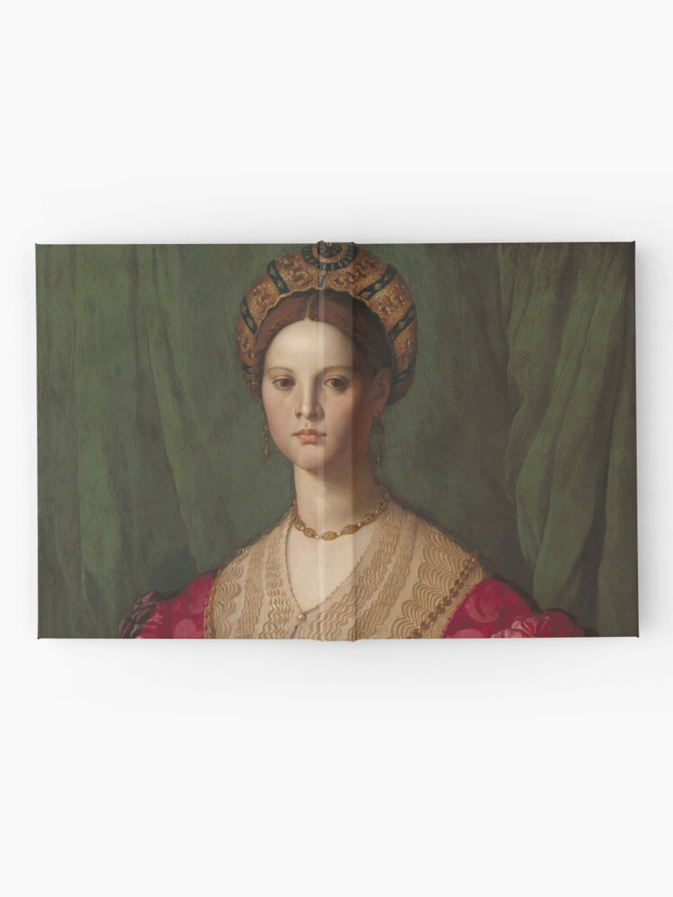 Alternate view of   A Young Woman and Her Little Boy Oil Painting by Agnolo Bronzino Hardcover Journal