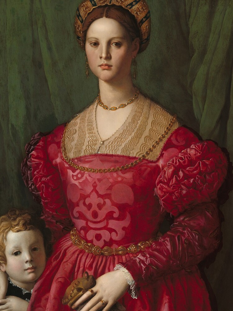 A Young Woman and Her Little Boy Oil Painting by Agnolo Bronzino by podartist