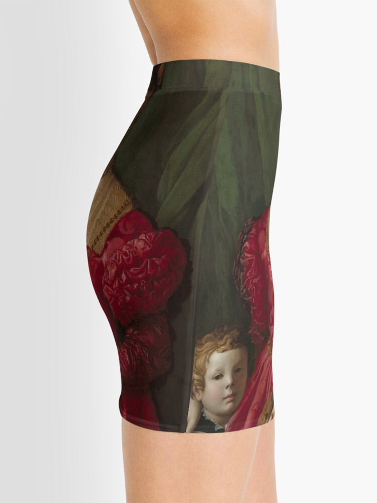 Alternate view of   A Young Woman and Her Little Boy Oil Painting by Agnolo Bronzino Mini Skirt