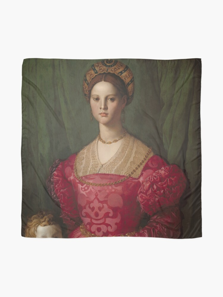 Alternate view of   A Young Woman and Her Little Boy Oil Painting by Agnolo Bronzino Scarf