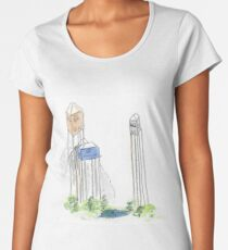 Houses on stilts Women's Premium T-Shirt