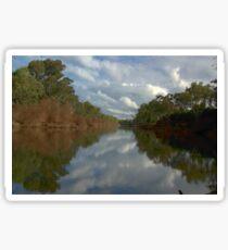 Tranquil river scene Sticker