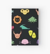 All Signs Pattern- Black Hardcover Journal