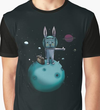 hitchhiking bunny Graphic T-Shirt