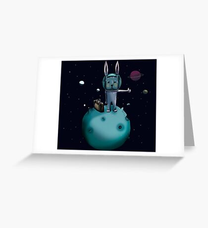 hitchhiking bunny Greeting Card