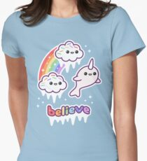 Believe in Narwhals Women's Fitted T-Shirt