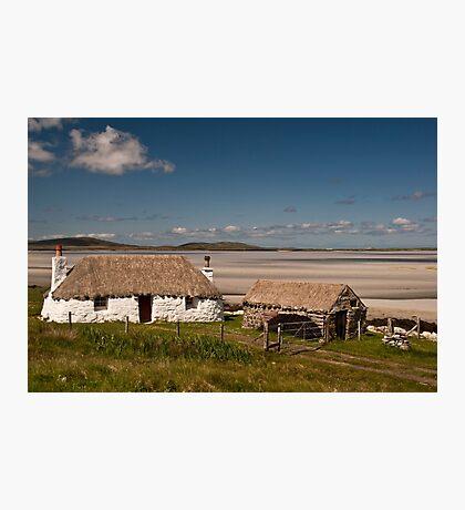 North Uist: Beach House Photographic Print