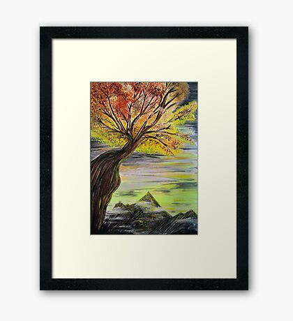 Over Looking Tree Framed Print