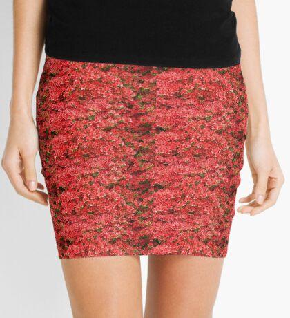 Red Azaleas Mini Skirt