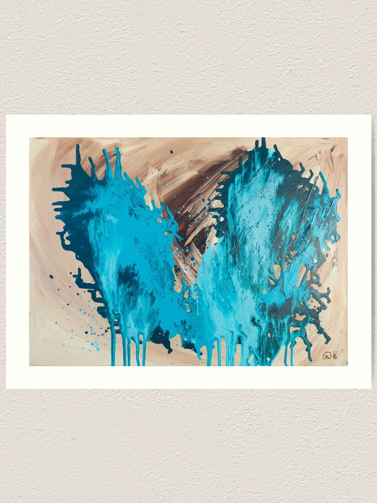 Alternate view of Breathe - Fluid Painting abstract painting Art Print