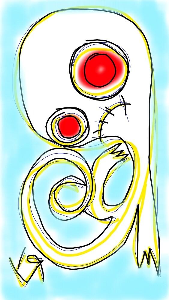 """Balloon Head Ghost"" by Richard F. Yates by richardfyates"