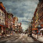 City - Poughkeepsie NY - The ever changing market place 1906 by Michael Savad