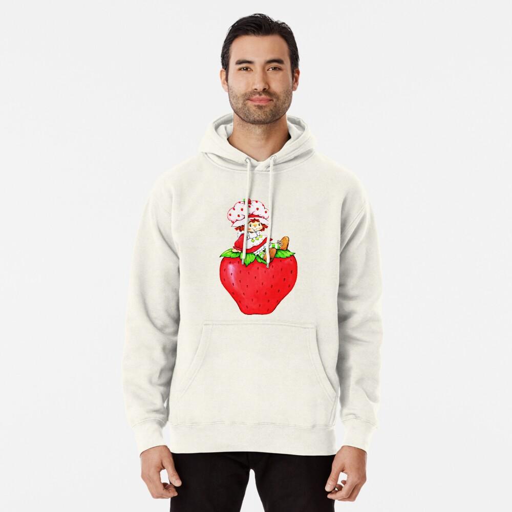 Erdbeerkuchen, Erdbeere klassische 80er Karikatur Hoodie