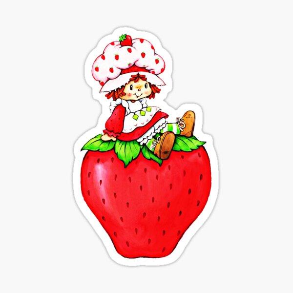 Strawberry Shortcake, strawberry classic 80s cartoon Sticker