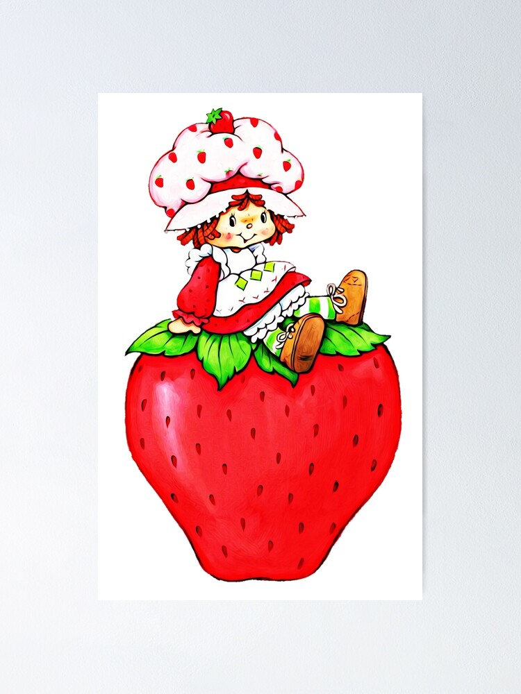 Strawberry Shortcake Strawberry Classic 80s Cartoon Poster By