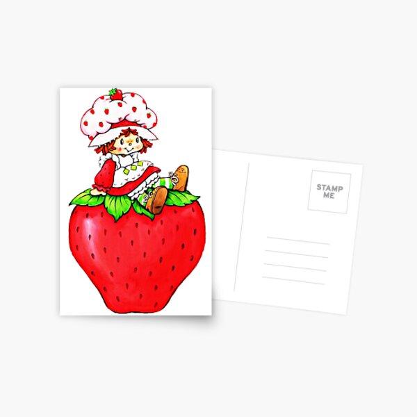 Strawberry Shortcake, strawberry classic 80s cartoon Postcard