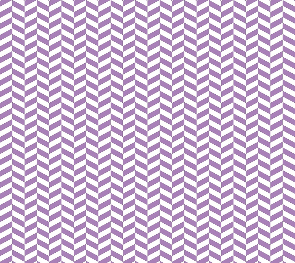 Lavender Purple Herringbone Pattern Design by SkylineSquirrel