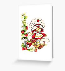 Strawberry Shortcake, strawberry classic 80s cartoon Greeting Card