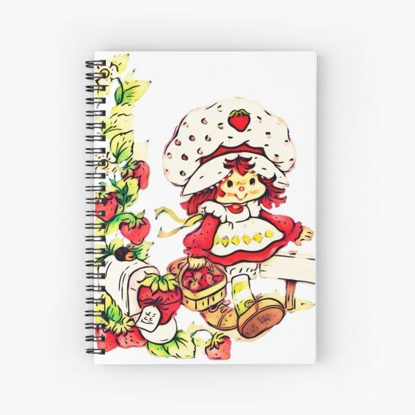 Strawberry Shortcake, strawberry classic 80s cartoon Spiral Notebook