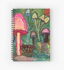 Mushroom Meeting Spiral Notebook