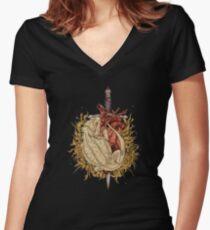 Gilded Dragon Women's Fitted V-Neck T-Shirt