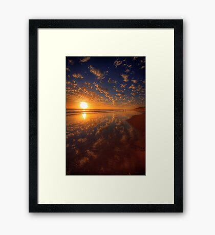 Distant Fishermen Framed Print