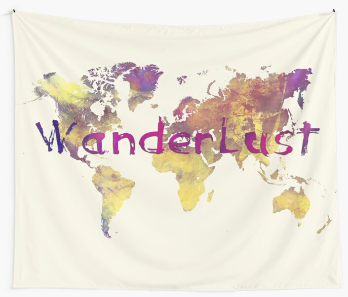 world map 90 wanderlust by JBJart