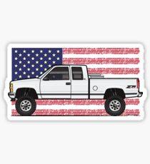 88-98 White USA 4x4 Sticker