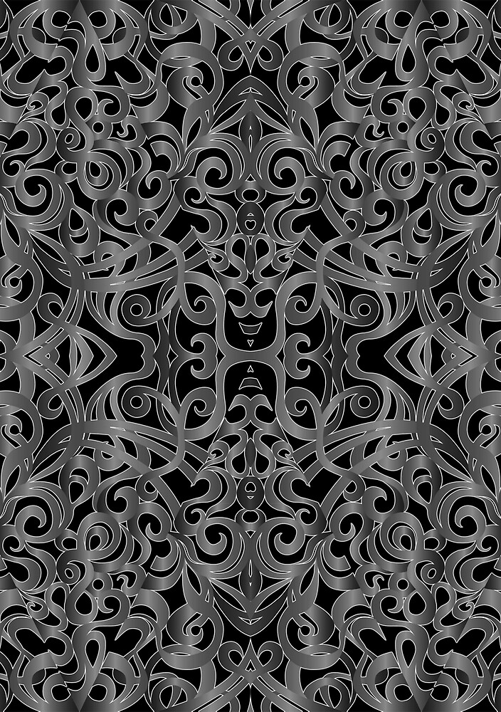 Floral Wrought Iron by MEDUSA GraphicART