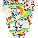 Pflege Bär, Care Bear Cousins, Retro 80er Jahre niedliche Eiscreme von RainbowRetro