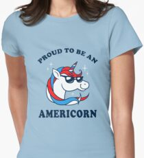 Proud To Be An Americorn Womens Fitted T-Shirt