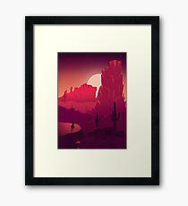 Red Desert - Flat Landscape Framed Print
