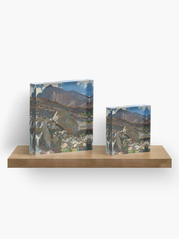 Alternate view of Simplon Pass Oil Painting by  John Singer Sargent Acrylic Block